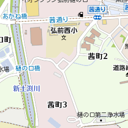 青森県弘前市茜町3丁目1の地図