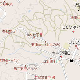 広島県広島市西区己斐町の地図